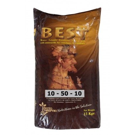 Fertilizant total solubil Best 10.50.10 15Kg