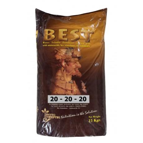 Fertilizant total solubil Best 20.20.20 15Kg