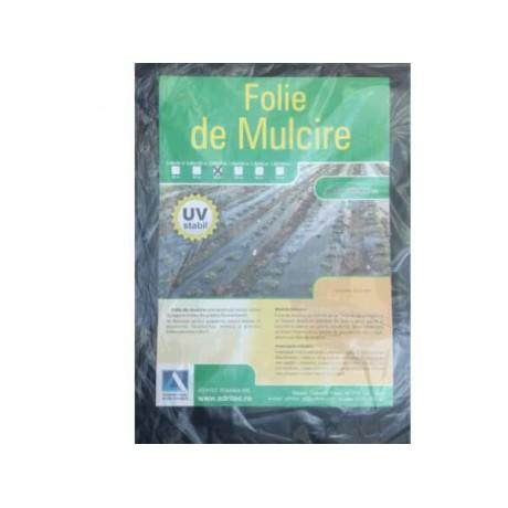 Folie mulcire legume, 1m * 50m / 15 mic / negru